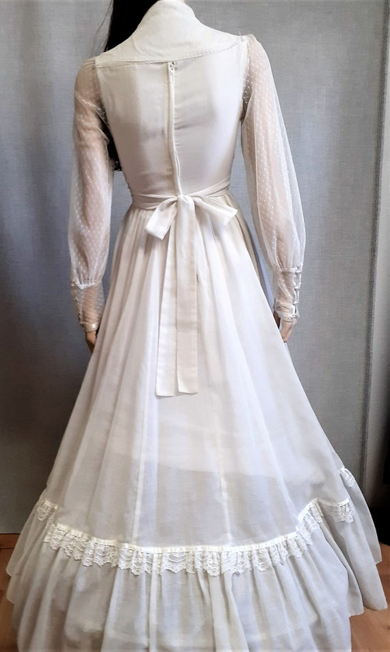 70s Gunne Sax Prairie Wedding Dress - Dead Stock … - image 8