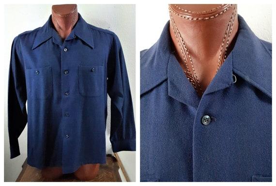 50's 60's Pendleton Wool Shirt USA made Sz L- XL