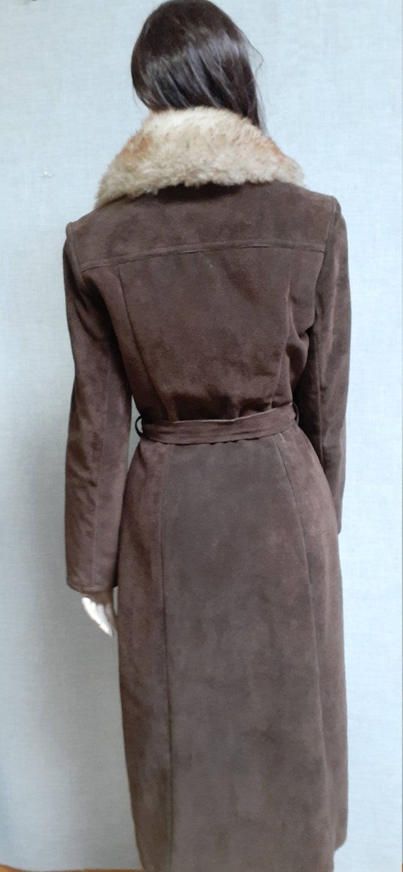 70's Almost Famous Shearling Wrap Coat - Full She… - image 7