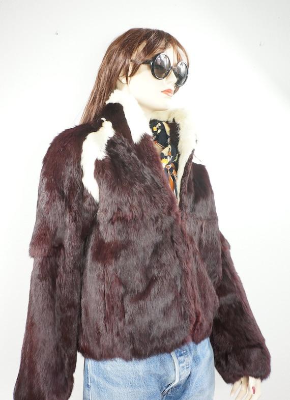 70s Bohemian Bunnykin Fur Jacket - 70's Grunge Fur
