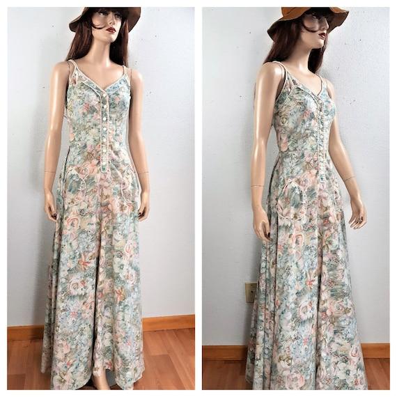 Gunne Sax Peasant Style Dress - Boho Summer Maxi D