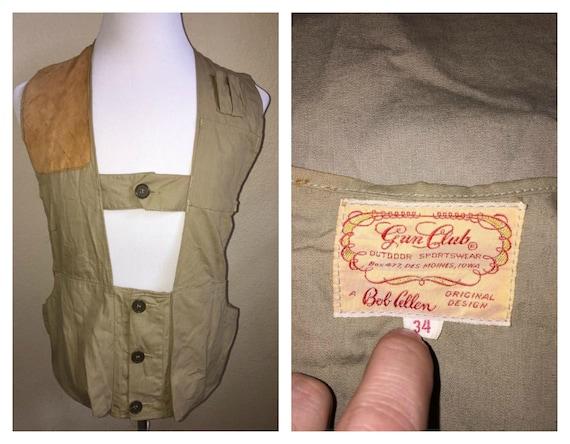 1940's Hunters Vest - Trap Shooters Vest Size 34 /