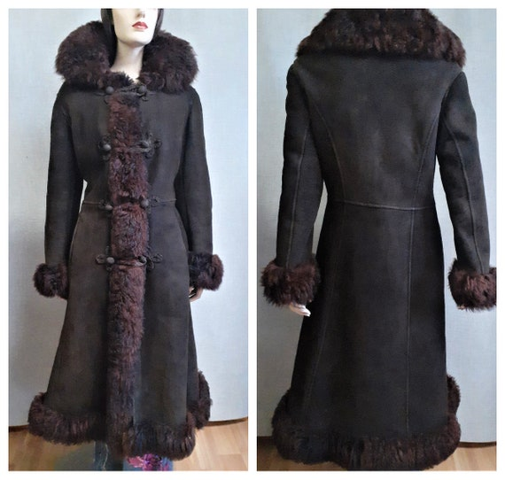70's Almost Famous Thick Shearling Fur Coat
