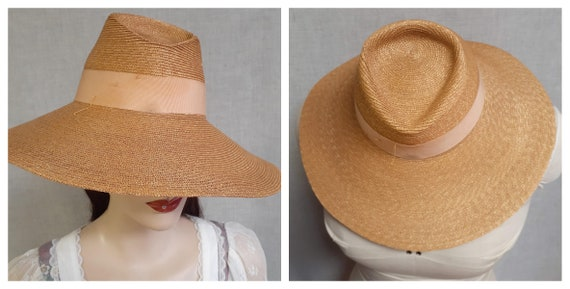 STUNNING 1930's early 40's Pin-up Wide Brim Fedora