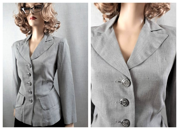 40's Rayon Fitted Blazer - 30's Light Weight Fitte