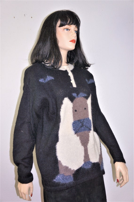 80's Ugly Sweater - Designer Italian Mohair Sweat… - image 5