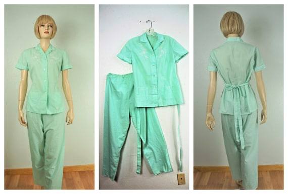 1940's Sheer Cotton Lounge Set - 30's Summer Pajam