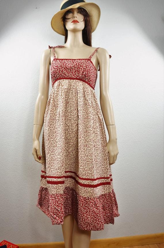 70s Gunne Sax Boho Sundress Style - Hippie Patchw… - image 3