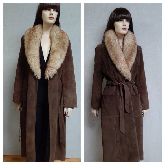 70's Almost Famous Shearling Wrap Coat - Full She… - image 1