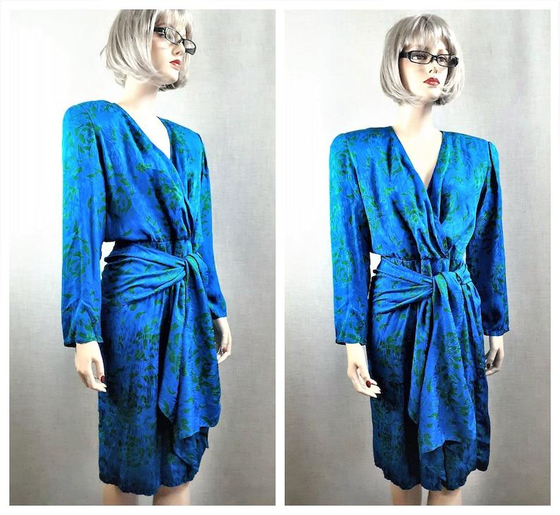 Designer Silk Sarong Dress Korean Couture Silk Dress Pure Silk Wrap Secretary Dress Nora Noh Silk Wrap Dress