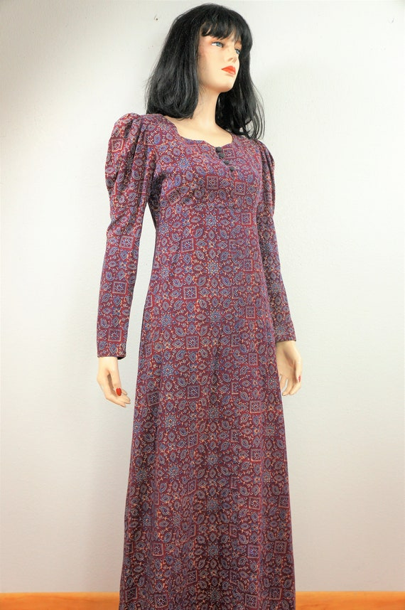 HALLOWEEN -Authentic 60s Block Print Hippie Dress