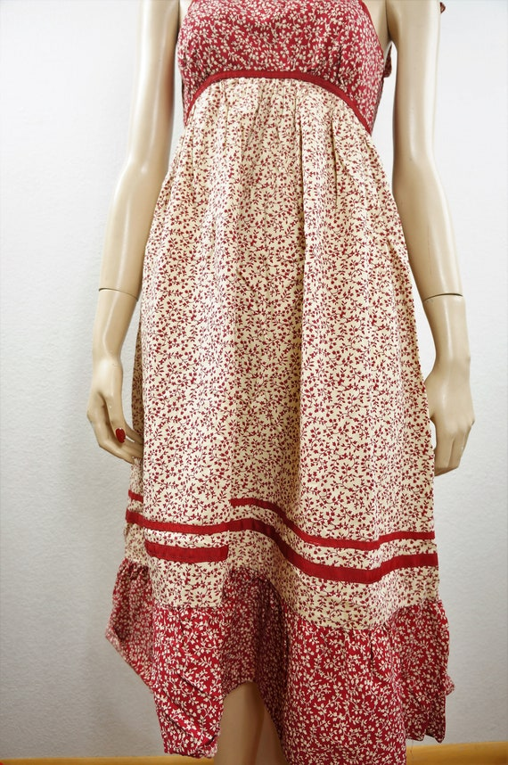 70s Gunne Sax Boho Sundress Style - Hippie Patchw… - image 6