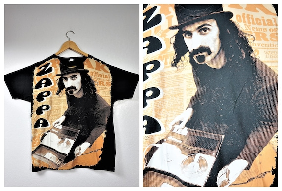 Vintage FRANK ZAPPA All Over Tshirt  - Vng Hippie