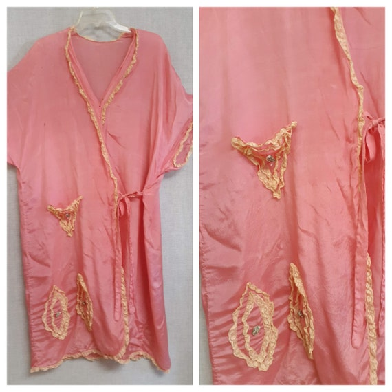CLEARANCE - c:1910 French Trousseau Silk and Lace… - image 5