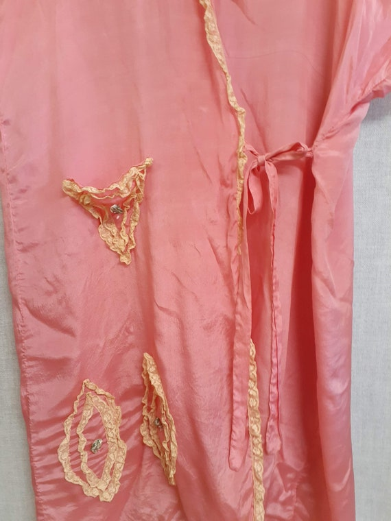 CLEARANCE - c:1910 French Trousseau Silk and Lace… - image 7