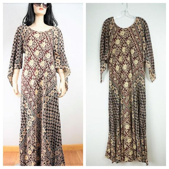 Bohemian Batik Caftan - Kaiser Block Print Angel S