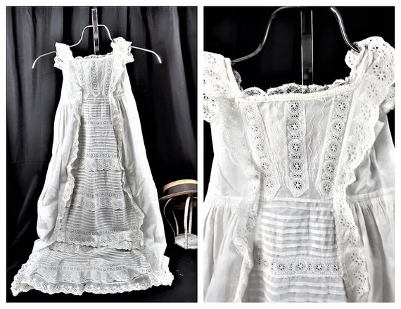 CLEARANCE - Antique French Christening Gown - Vict
