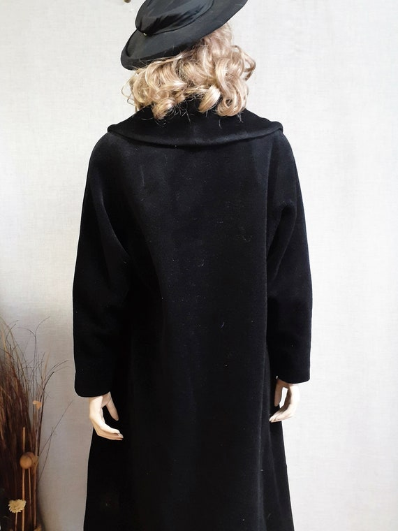 Lilli Ann Paris Black Wool Swing Coat - Early 60'… - image 5
