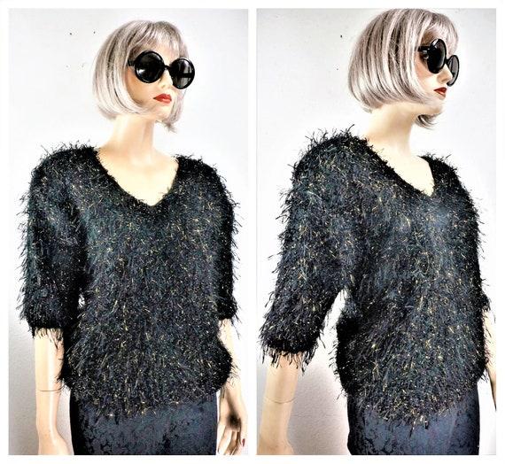 CLEARANCE 80's Fuzzy Mohair Sweater - Mohair Angor