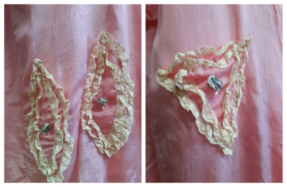 CLEARANCE - c:1910 French Trousseau Silk and Lace… - image 8
