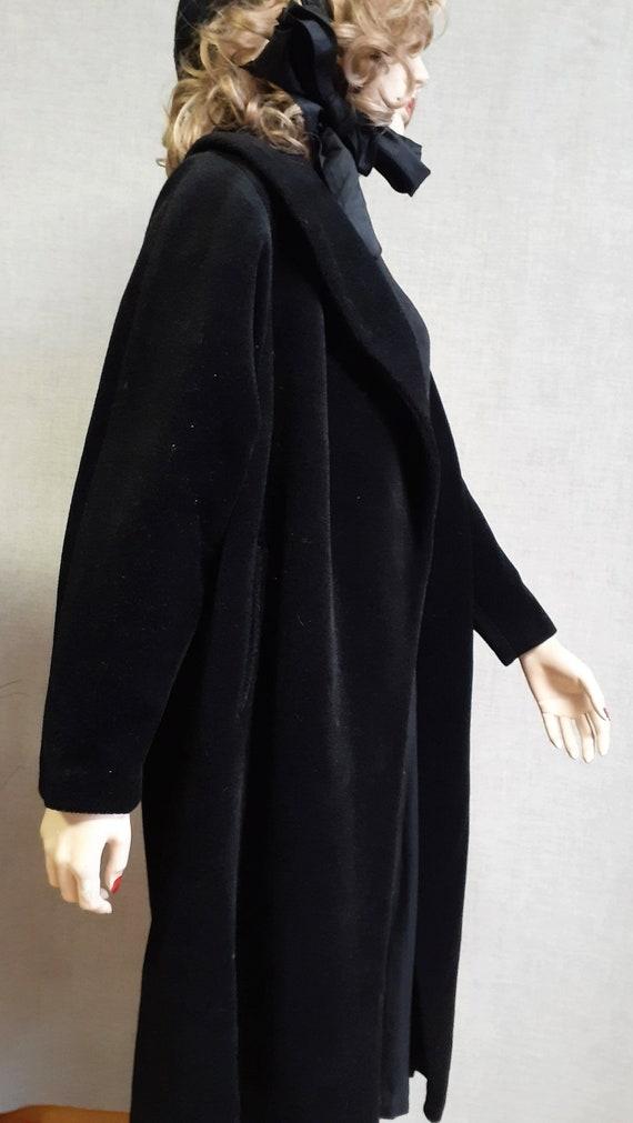 Lilli Ann Paris Black Wool Swing Coat - Early 60'… - image 6