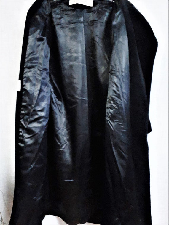 Lilli Ann Paris Black Wool Swing Coat - Early 60'… - image 9