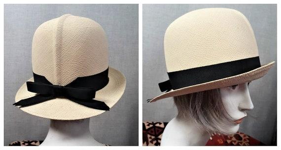 RARE 1920's Straw Panama Hat -  Women Panama Straw