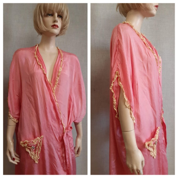 CLEARANCE - c:1910 French Trousseau Silk and Lace… - image 2