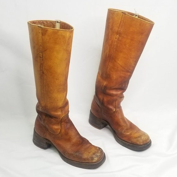 RARE 1967 Frye Campus Boots - Mens 6.5 Women 8 - P