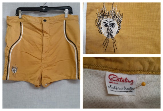 RARE Early 50's Mens Catalina Surf Trunks - 1953 C