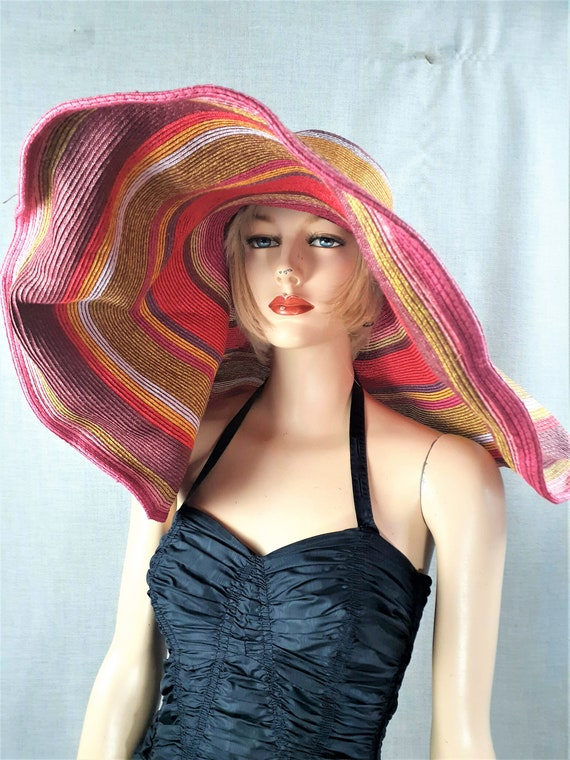 40's Large Brim Italian Floppy Hat - Filippo Catar
