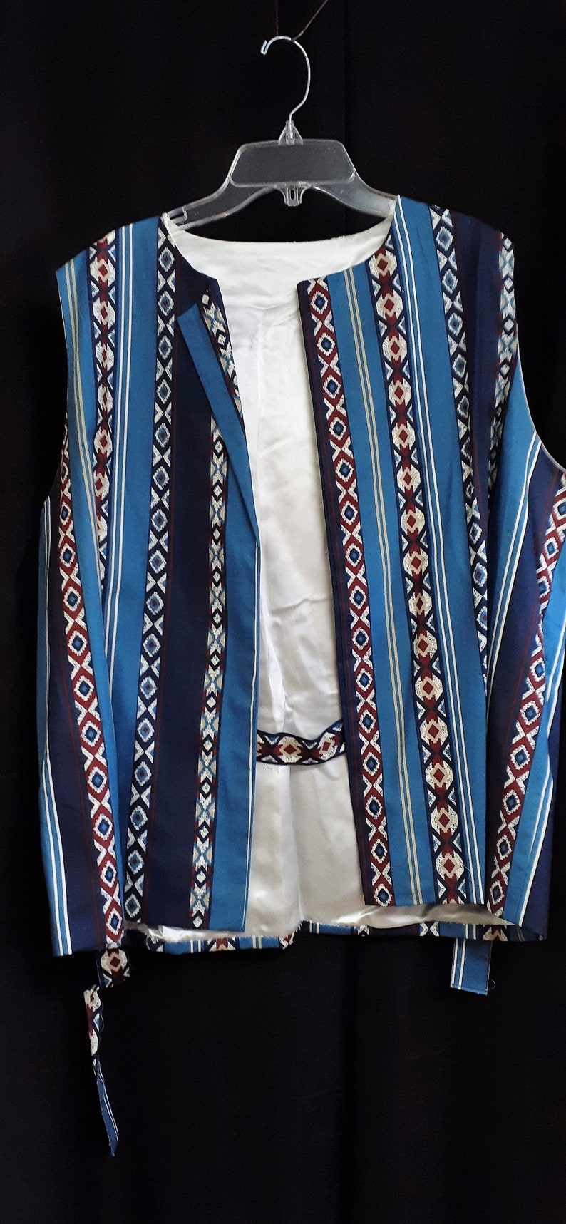Women/'s 60/'s Long Vest Hippie Vest Vintage 60s Long Vest Handmade Abstract Vest