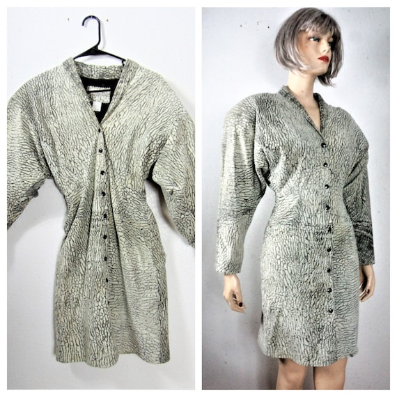 CLEARANCE 80's Italian Leather Dress - Leather Sna