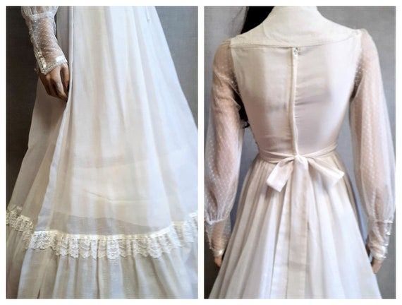 70s Gunne Sax Prairie Wedding Dress - Dead Stock … - image 7