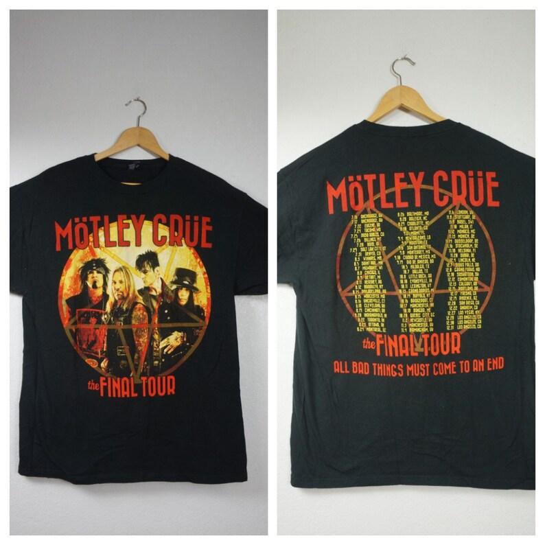 03c20000 90's Motley Crue Vng Concert Tour Shirt All Bad   Etsy
