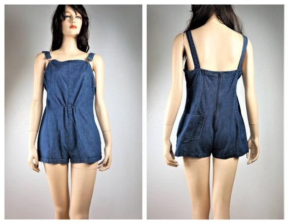 Vng 70's Denim Shorts / Hot Pant Shorts / 70s Deni