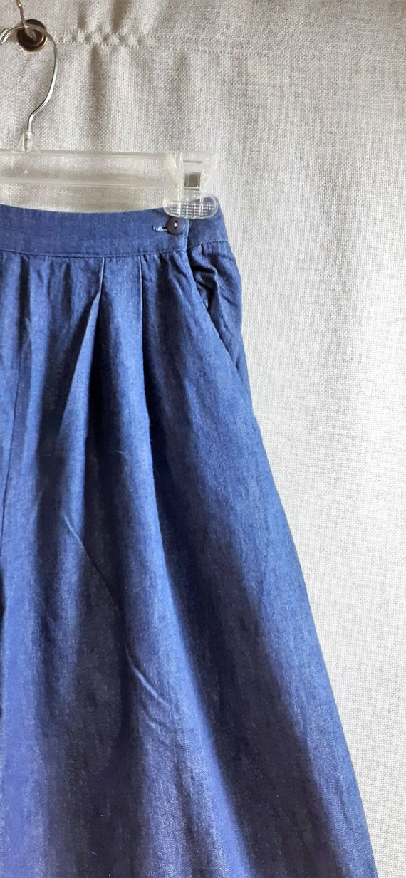 CLEARANCE 70's Denim Suede Wide Leg Pants - 70's … - image 6
