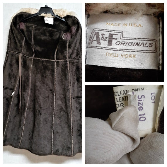70's Almost Famous Shearling Wrap Coat - Full She… - image 10