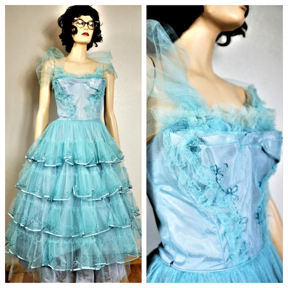 50s Cupcake Prom Party Dress sz sm  - xtra sm / 50