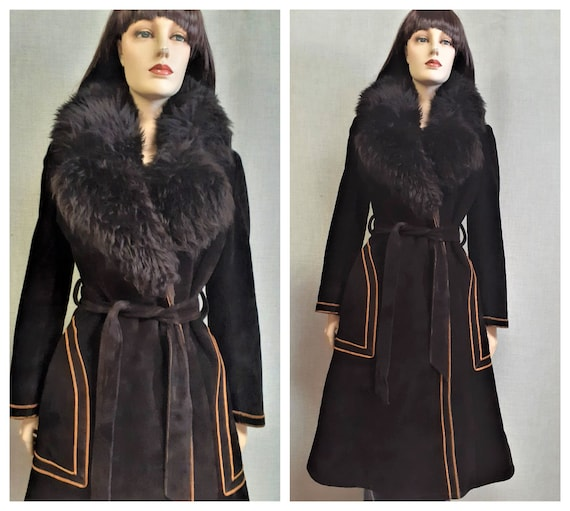70's Penny Lane Shearling Wrap Coat - Almost Famou