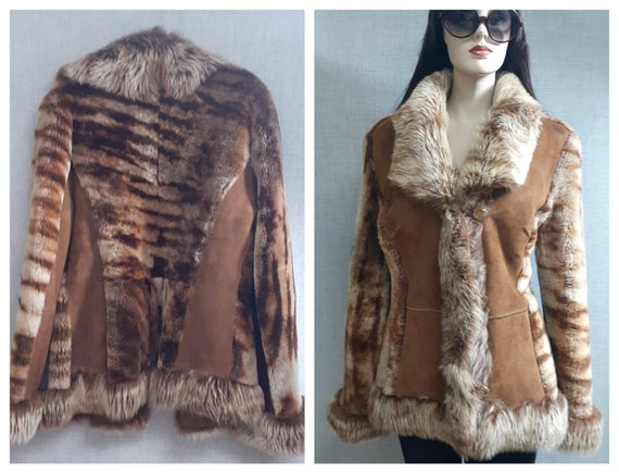 RARE Designer Dyed Shearling Jacket - Sheepskin Pe