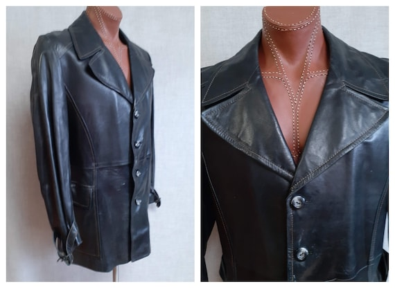 70s Men's Kidd Glove Leather Jacket - 70s Lambskin