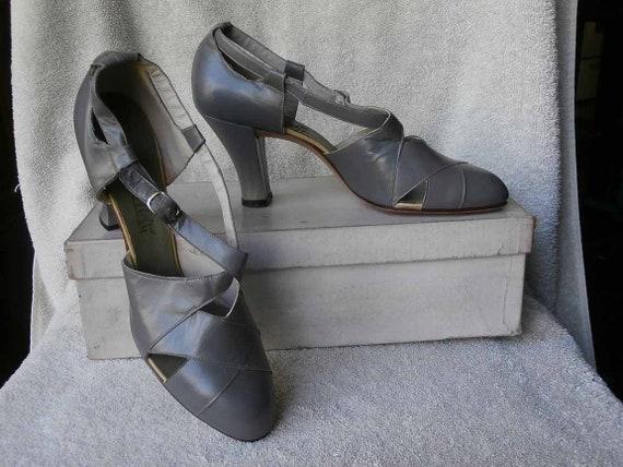1920's 30's Leather Heels -  Unworn Leather Heel S