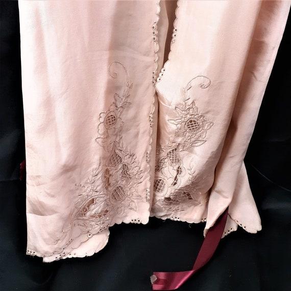 1920s 1930s 3 pc Silk Pajama Set - Art Nouveau Si… - image 8