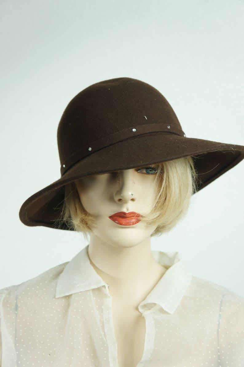 7c0a0431aaef72 70s Wool Hippie Floppy Hat / Vng Lord & Taylor Floppy Brim | Etsy