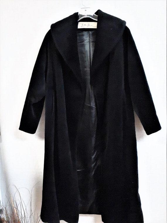 Lilli Ann Paris Black Wool Swing Coat - Early 60'… - image 7