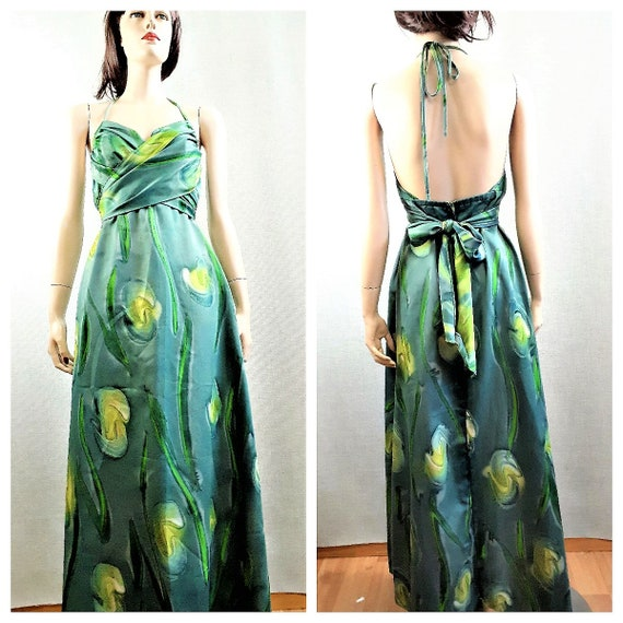 RARE 70s Halter Maxi - Liberty House Hawaii Wrap M