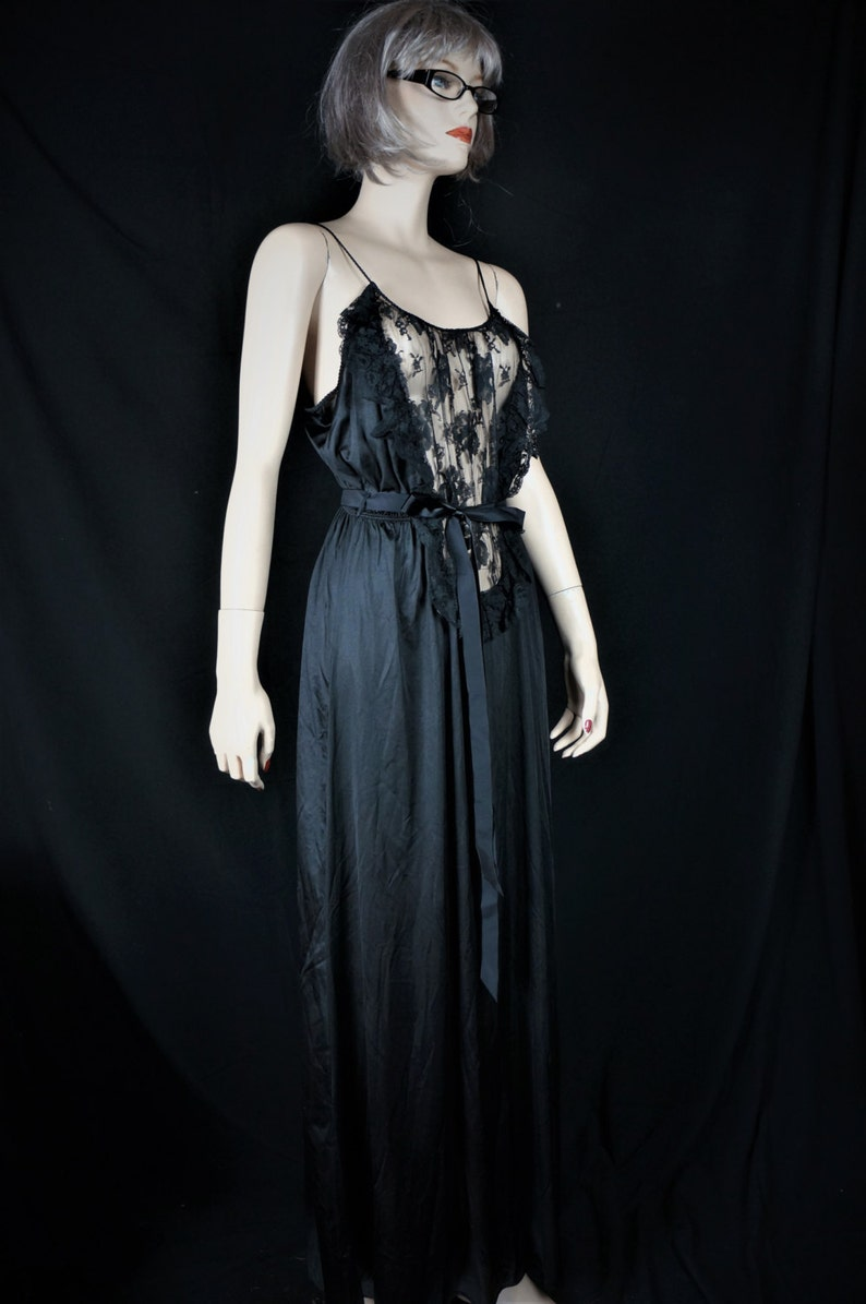 e1d68dd64 Vng Sheer Nylon Lace Sexy Nightgown Sz S 70s