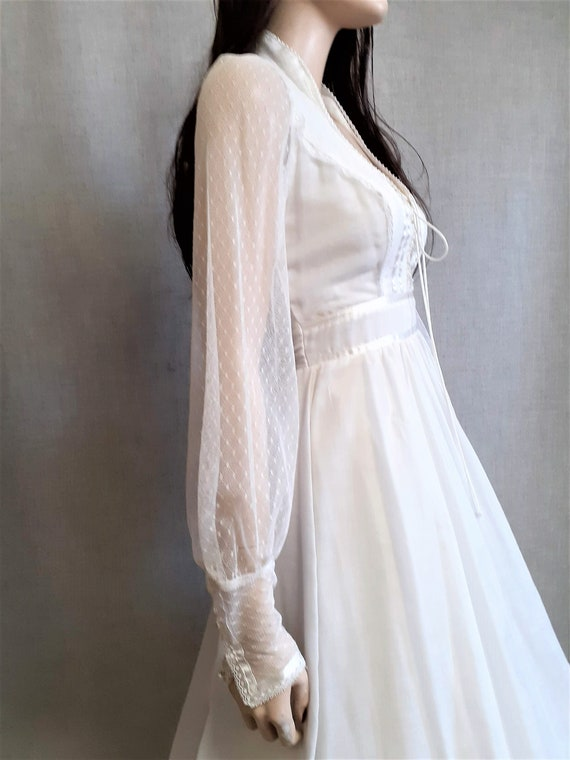 70s Gunne Sax Prairie Wedding Dress - Dead Stock … - image 6