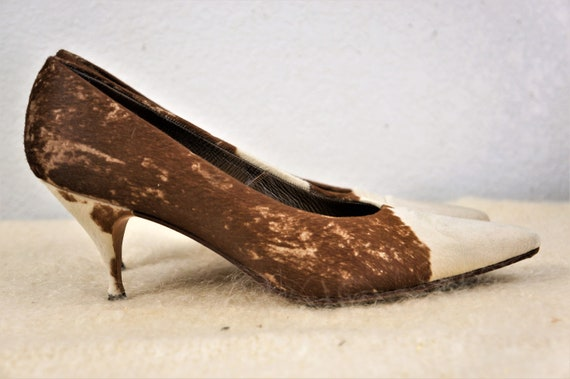 95b31c984ac RARE 60's Imported Designer Pony Fur Stilettos - Mexican Custom Made Fur  High Heels - Designer Pin Up Stiletto Pumps
